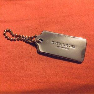 Coach Silver Keychain Brand Tag